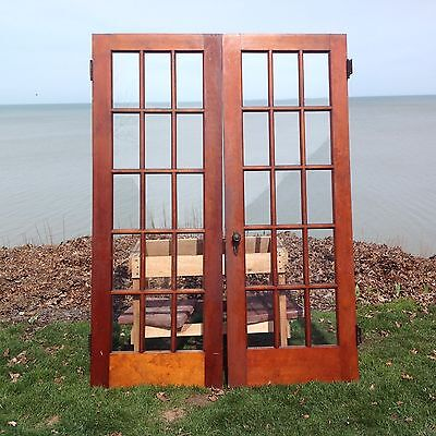 Vintage Salvaged Antique French Doors 30 X 82 1/2 Ready To Hang
