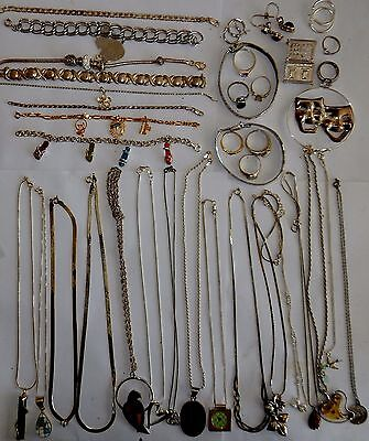 925 Sterling silver jewelry lot not scrap 102G  Vintage estate #50