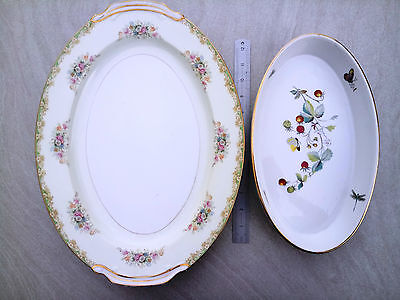 2 Assorted Vintage Bone China Serving Dish Tea Party Royal Worcester Wedding 410