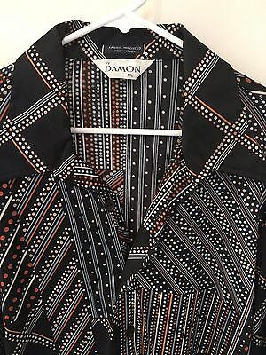 Vintage Men's Damon Shirt Long Sleeve Sleeve DISCO XL