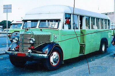 Bus Photo Of A Malta Photograph Picture Of A Green  Classic Vintage Saloon.
