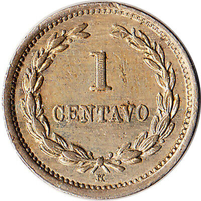 1889 (H) El Salvador 1 Centavo Coin KM#106 One Year Type