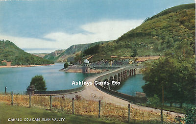 CAREG DDU DAM, ELAN VALLEY, Radnorshire Salmon Postcard (D01
