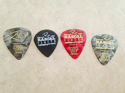 4 AUTHENTIC ~ Rascal Flatts Guitar Picks Summer Tour 2016