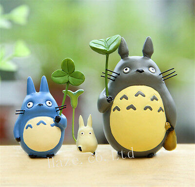 3pcs/Set Anime My Neighbor Totoro Resin Figures Figurine