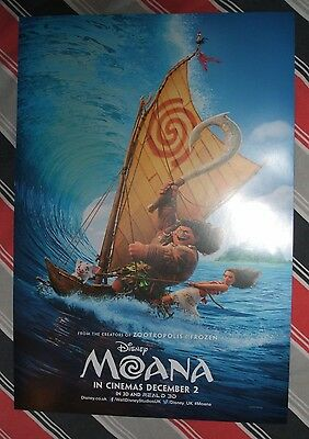 DISNEY MOANA POSTER Movie Cinema Film *NEW* A3 Unfolded Frozen Nemo Dory Marvel
