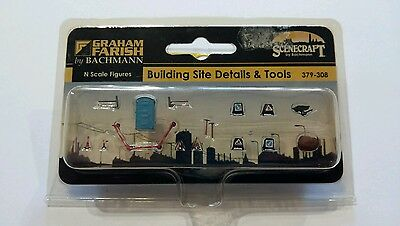 Graham Farish N Scale Bulding Site Details and Tools (379-308)