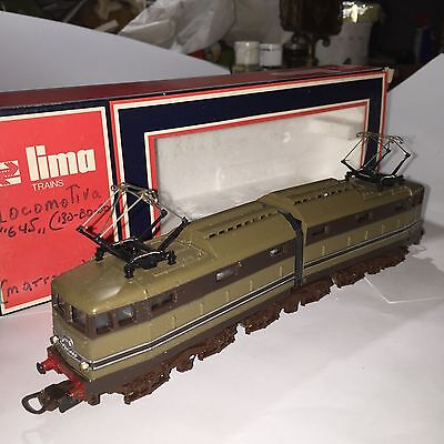 "LOCOMOTIVA LIMA HO 8028/L - ""645"" FS. MADE In ITALY CON SCATOLA ORIGINALE  1970"