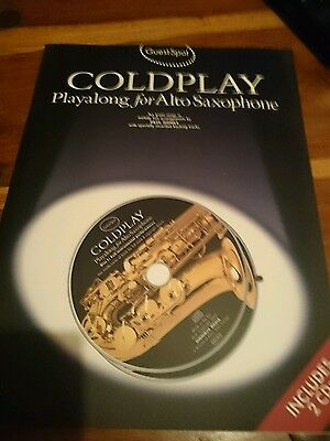 COLDPLAY PLAYALONG FOR ALTO SAXOPHONE BOOK AND CDs