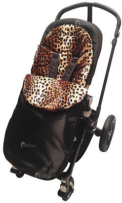 Animal Print Padded  Footmuff / Cosy Toes Compatible with Bugaboo Bee/Donkey/Cam
