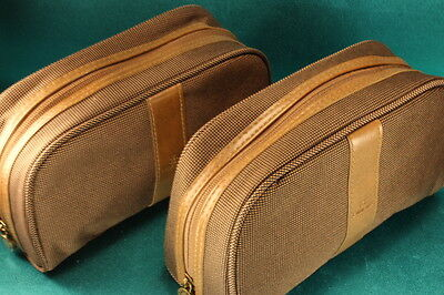 Bvlgari for Emirates Airline 2 Travel Kit Amenity Jewelry Bags First Class Mint!