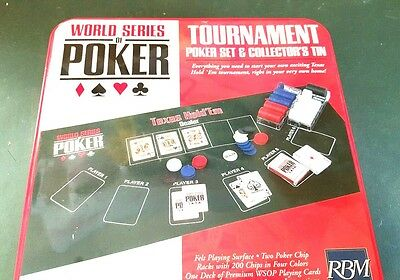 World Series of Poker Tournament Poker Set & Collector's Tin PLAY LIKE THE PROS