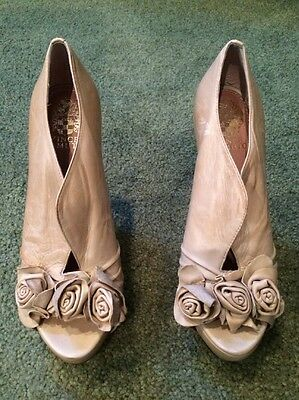 Women's Vince Camuto Leather High Heel Shoes Beige