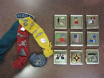 Vintage LOT BSA Scouts WEBELOS BADGE & Pins Belt Loops