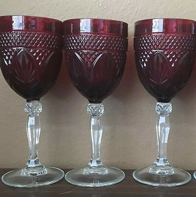 Arcoroc Luminarc Cristal D'arques Ruby Red Wine Glass Goblets