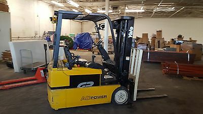 2008 Yale Erp035Th 3 Wheel Compact Electric  Forklift With New Battery