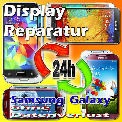 24 St. Display Reparatur Samsung Galaxy S3mini S3 S4mini S4 S5 mini Note 2 3