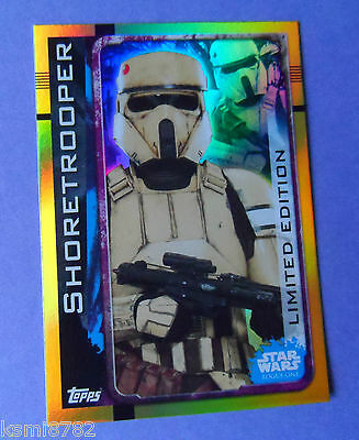 Topps Star Wars Rogue One Shoretrooper Ltd