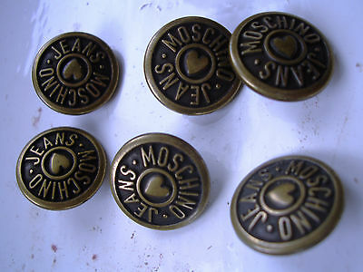 vintage buttons moschino x 6
