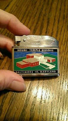 Vintage Baltimore MD Boumi Temple Mosque Colson Lighter from Japan