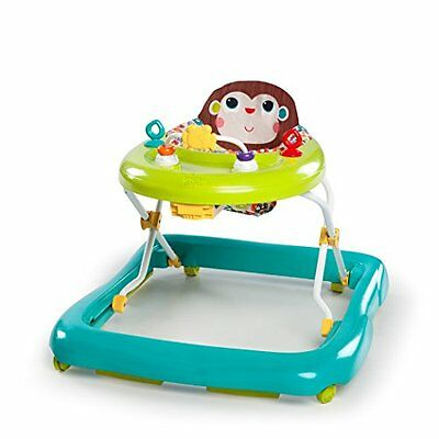 Green Baby Walker Learning Activity Center Wheels Walk Around Bright Starts