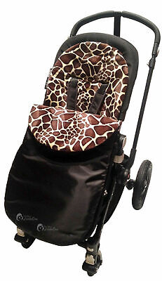 Animal Print Padded  Footmuff / Cosy Toes Compatible with Silver Cross Giraffe