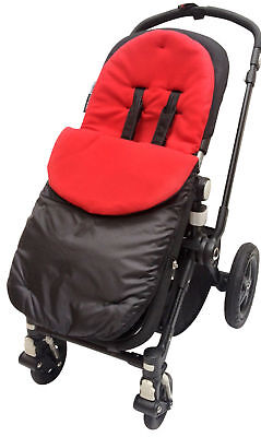 Footmuff / Cosy Toes Compatible with Bugaboo Bee Cameleon DonKey Buffalo Red