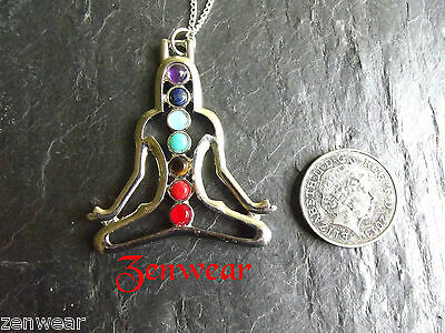 Meditation Chakra Gemstone Symbol Pendant Necklace