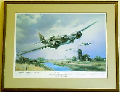 "Blenheim MK IV:""A Blenheim Will Fly Again"":Wootton:Ltd Ed.Signed Print:Framed"