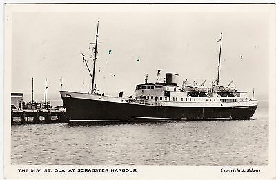 The M. V. St. Ola At The Harbour, SCRABSTER, Caithness RP