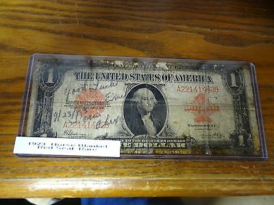 1923  1dollar red seal horse Blanket note