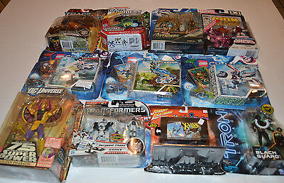 Action Figure Lot Transformers Marvel DC Tron Legos Great Set All Never Opened