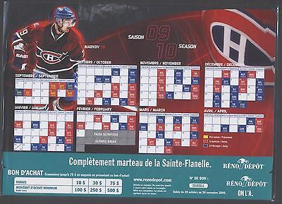 2009-10 Montreal Canadiens Nhl Magnet Schedule