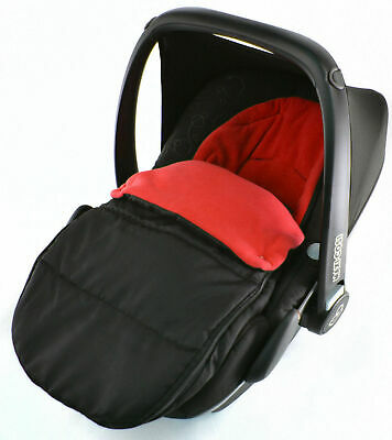 Car Seat  Footmuff / Cosy Toes Compatible with Maxi Cosi Cabrio Pebble Fire Red