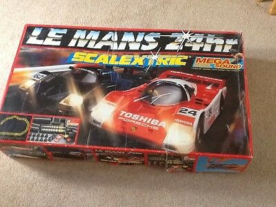 Scalextric le mans 24hrs boxed with cars