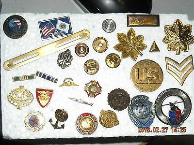lot (C) vintage military jewelry USN NARFE-PAC eagle organization bars pins
