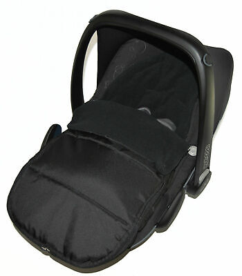Car Seat  Footmuff / Cosy Toes Compatible With Maxi Cosi Cabrio Black Jack
