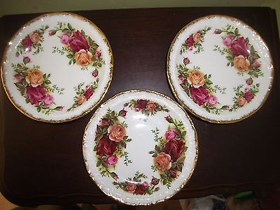 Royal Albert Old Country Roses 3 coasters or Butter Pats  Ex Codition