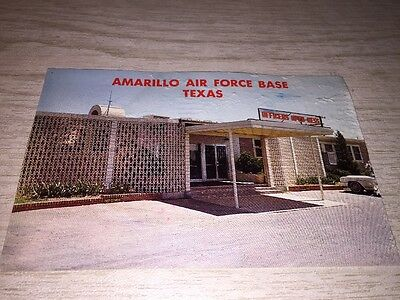 """postcard 1960s  """"AMARILLO AIR FORCE BASE TEXAS"""" posted 10/10/67"""