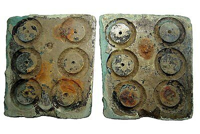 Extremely Rare Celtic Ring *proto Money* Bronze Mould, Complete With Both Parts+