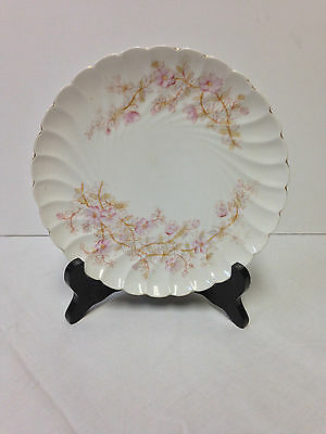 """Antique Marx Gutherz Carlsbad Austria Scalloped Floral Plate 8"""""""