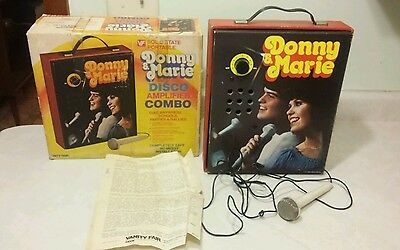 Vintage Donny and Marie Osmond Disco Amplifier Combo by Vanity Fair