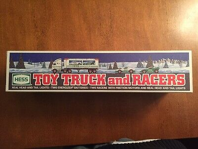 1997 HESS Toy Truck And Racers With Box