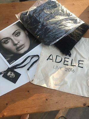 Adele Vip Package, Vip Tag, Back Pack, Blanket, Picture 2016 Brand New