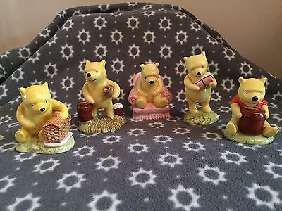 Winnie The Pooh Disney Figures By Royal Doulton Immaculate Condition