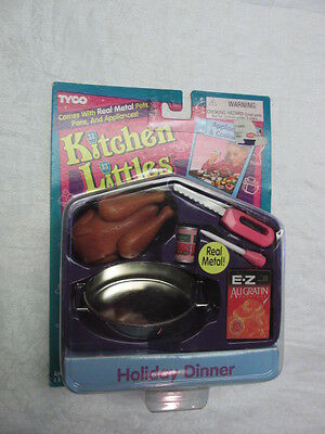 TYCO KITCHEN LITTLES Holiday Dinner 1995 ~Barbie Food~ New in Package!