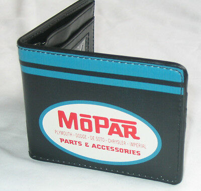 Leather style wallet Mopar parts & accessories logo Dodge Plymouth xmas gift