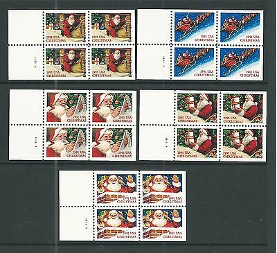 2581b TO 2585a SANTA****SET OF 5***UNFOLDED PANES NH VF @ FACE