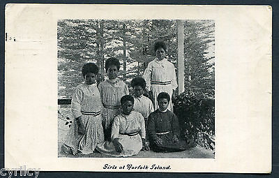Norfolk Island,girls At..,bw,sr,pub Melanesian Series,