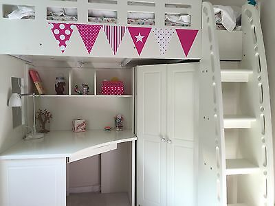 SleepDoctor - Kids loft bed with built in desk and wardrobe